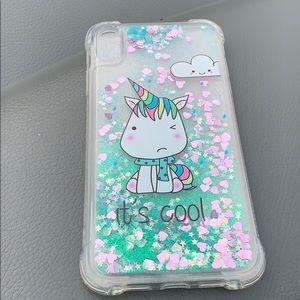 🦄 unicorn clear glitter case for iPhone XS Max